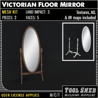 Tool Shed - Victorian Floor Mirror Mesh Kit Ad